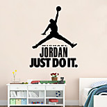 Wall Stickers Wall Decals Style Jordan PVC Wall Stickers