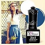 Y-SHINE 2 Pcs Nail Gel Polish Soak Off Uv Gel Nail Polish Y02-62(White&Cerulean)