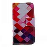 patrón de la geometría de la caja de cuero de la PU para el iphone 5 / 5s