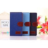 Denim Pattern Cloth Horizontal Flip Magnetic Buckle Leather Case with Card Slots & Holder for Xperia Z2