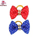 FUN OF PETS® Cute Spot Bowknot Ribbon Style  Rubber Band Hair Bow for Pet Dogs(Random Colour)
