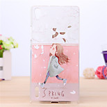 Gardenia Flower Bloom Pattern TPU Cover Case for Huawei P7 Phone Cases