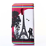 Tower Pattern PU Leahter Wallet with Card Slot And Stand Case for Motorola MOTO G