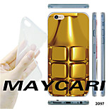 MAYCARI®Gold Grenade Pattern Transparent TPU Soft Back Case for iPhone 6