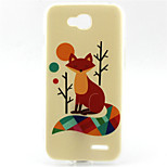 Fox  Pattern TPU Soft Back Cover for LG L90