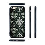 Black and White Mural Pattern Silicone Edge Hard Back Case for iPhone 6 Plus