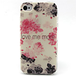 Watercolor  Pattern TPU Phone Case for iPhone 4/4S