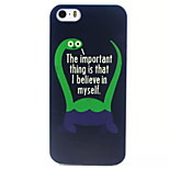 Trust Yourself Pattern TPU Painted Soft Back Cover for iPhone 5/5S