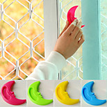 10 PCS Candy color Moon Modeling The auxiliary Window Door lock Handle padlock (Random Color)