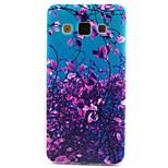 삼성 갤럭시의 A3 A5 보라색 꽃 패턴 TPU 소재 전화 케이스