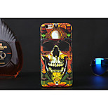 Cool Doodle Skull Style Luminous Plastic Case for iPhone 5S
