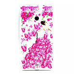 Flowers  Pattern TPU Painted Soft Back Cover for Nokia  Lumia 535/ Lumia 435