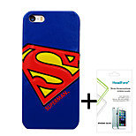 Disney Marvel Superman Cover Case for Iphone5S/5G Free with Headfore Screen Protector for Iphone 5S/5G