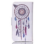 Campanula  Pattern PU Leather Double-Sided Phone Case For iPhone 5/5S