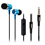 huast 3,5 millimetri auricolari in-ear super clear auricolari a isolamento acustico e cuffia bassa del metallo per iphone sony mp3