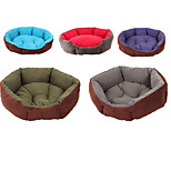 Multi Color Polyester Cute Sofa Shape Pet Bed for Dogs Cats 50*45 cm / 20*18 inch