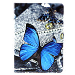 Blue Butterfly Pattern PU Leather Full Body TPU Case with Card Holder for Ipad Air 2/Ipad 6