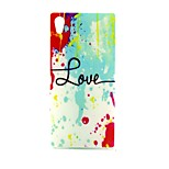 COCO FUN® Color Painting Pattern Soft TPU IMD Back Case Cover for Sony M4