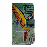 Parrot Pattern PU Leather Case for iPhone 5/5S