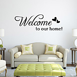Wall Stickers Wall Decals Style Welcome to Home English Words & Quotes PVC Wall Stickers