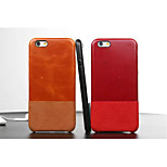 Compatible Genuiue Leather Solid Color Case Cover Full Body Case for iPhone 6 plus(Assorted Color)