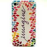 Colorful Leaves Pattern TPU Soft Back Case for iPhone 4/4S