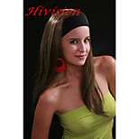 New Fashion 3/4 Wig With Headband Medium Brown With Ginger Highlight Long Straight Synthetic Half Wig 679B10-124