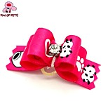 FUN OF PETS® Lovely Ribbon Style Flower Rhinestone Decorated Rubber Band Hair Bow for Pet Dogs  (Random Color)