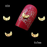 10pcs 3D Alloy Nail Art Decorations Golden and Silver Moon Charm Jewelry Manicure Nail Tips 4*5mm