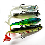 4pcs Soft Lead Fish 8cm/14g Fishing Lure with Hooks