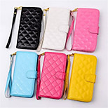 Diamond bright leather lambskin insertion bracket protective sleeve for iPhone 6(Assorted Colors)