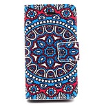 Big Beautiful Coloured Drawing Pattern PU Leather Phone Holster  For iPhone 4/4S
