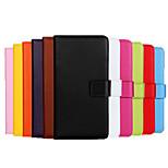 cuir véritable cas de style portefeuille pour Samsung Galaxy a8 (couleurs assorties)