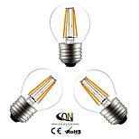 Lampes LED à Filament Blanc Chaud ONDENN 3 pièces A E26/E27 4 W 4 COB 400 LM AC 100-240/AC 110-130 V