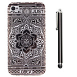 Sunflower Pattern TPU Soft Back and A Stylus Touch Pen for iPhone 4/4S