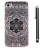 patrón de girasol TPU suave y un lápiz táctil de la aguja para el iphone 4 / 4s