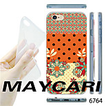 MAYCARI®Dots and Flower Pattern Transparent TPU Soft Back Case for iPhone 6
