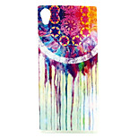 COCO FUN® Colorful Flower  Pattern Soft TPU IMD Back Case Cover for Sony M4