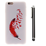 Fly Freely Pattern TPU Soft Back and A Stylus Touch Pen for iPhone 6