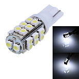 T10 4.2W 130lm 6000K 26-SMD 1210 LED White Light Car Width Lamp (12V/1-Pair)
