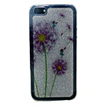 Color dandelion Pattern with shimmering TPU Soft Case for iPhone 5/iPhone 5S
