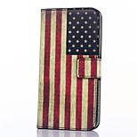 American Flag Pattern PU Leather Full Body Case with Stand and Card Slot for ZTE Blade S6