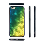 Green Bubble Pattern Transparent Silicone Rubber Edge Hard Back Case for iPhone 6