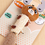 Natural materials with Cute Bear Style Design Pet Cat Toy Sisal Scratcher Toy  for Cat