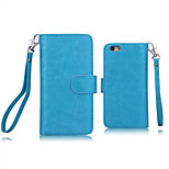 PU Leather Special Design Full Body Cases Detachable 9 Card Wallet For iPhone 6(Assorted Color)