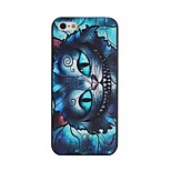 Owl Pattern Black Matte PC Material Phone Case for iPhone 5/5S