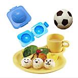 Plastic Football Shape Sushi Rice Roll Mould Cutter Egg Onigiri Cutter DIY