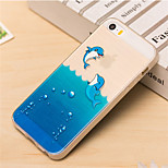 Happy Dolphin Pattern TPU Soft Case for iPhone 5/5S