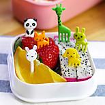10pcs Animal Shaped Bento Kawaii Animal Food Fruit Picks Forks Lunch Box Accessory Decor Tool (Random Color)