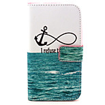 Fashion Design COCO FUN® No Sink Anchor Pattern PU Leather Wallet Case Cover for Wiko Bloom